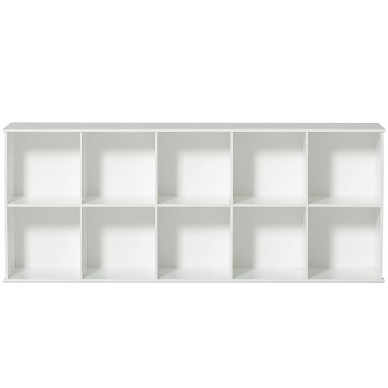 WOOD Original Regal 5x2 horizontal mit Sockel 173,5x77,5x36cm