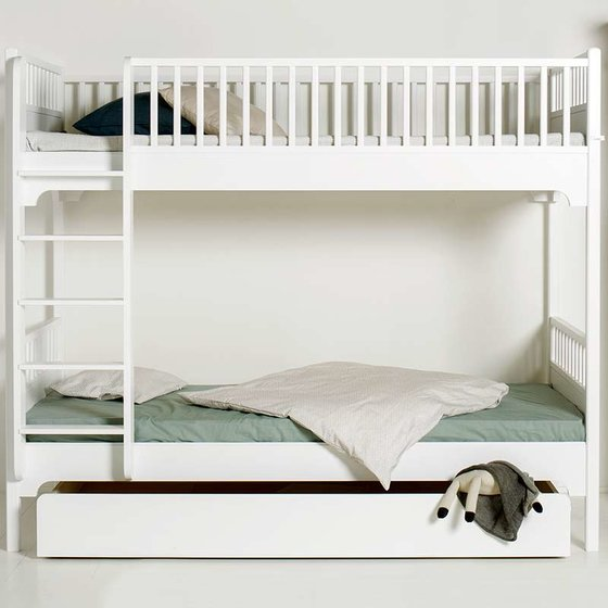 SEASIDE Classic bunk bed 90x200cm with vertical ladder white