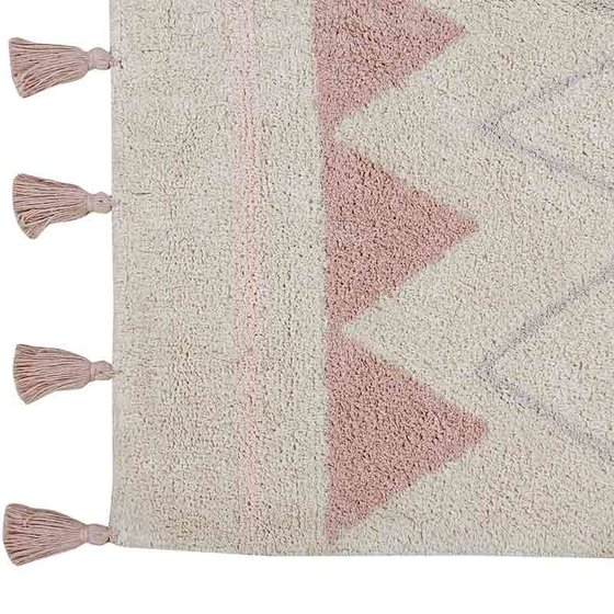 Cotton Carpet 120x160cm Azteca natural vintage nude