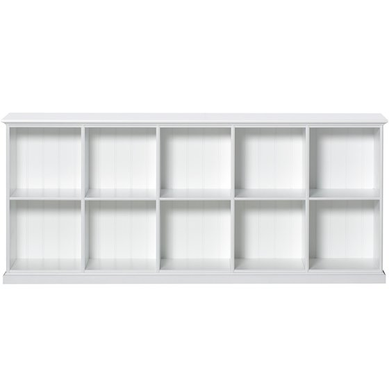 SEASIDE low cabinet with 10 rooms 177x76,5x33,5cm white