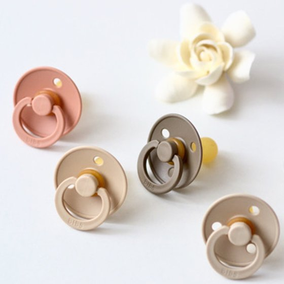 Pacifier natural rubber vanilla/peach