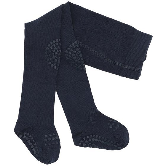 Crawling Tights navy blue 6-12m