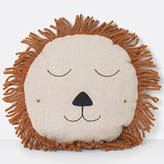 Cushion Safari Lion 52x52cm nature
