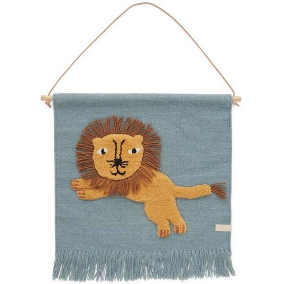 Wall Rug Jumping Lion 55x52cm