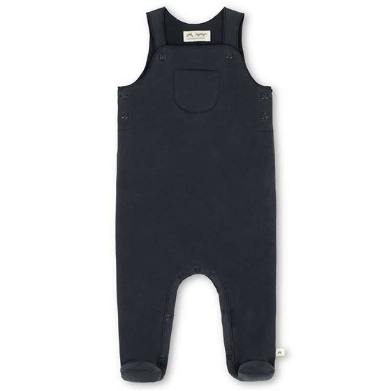 Dungarees with feet Ida in organic sweat nachtblau